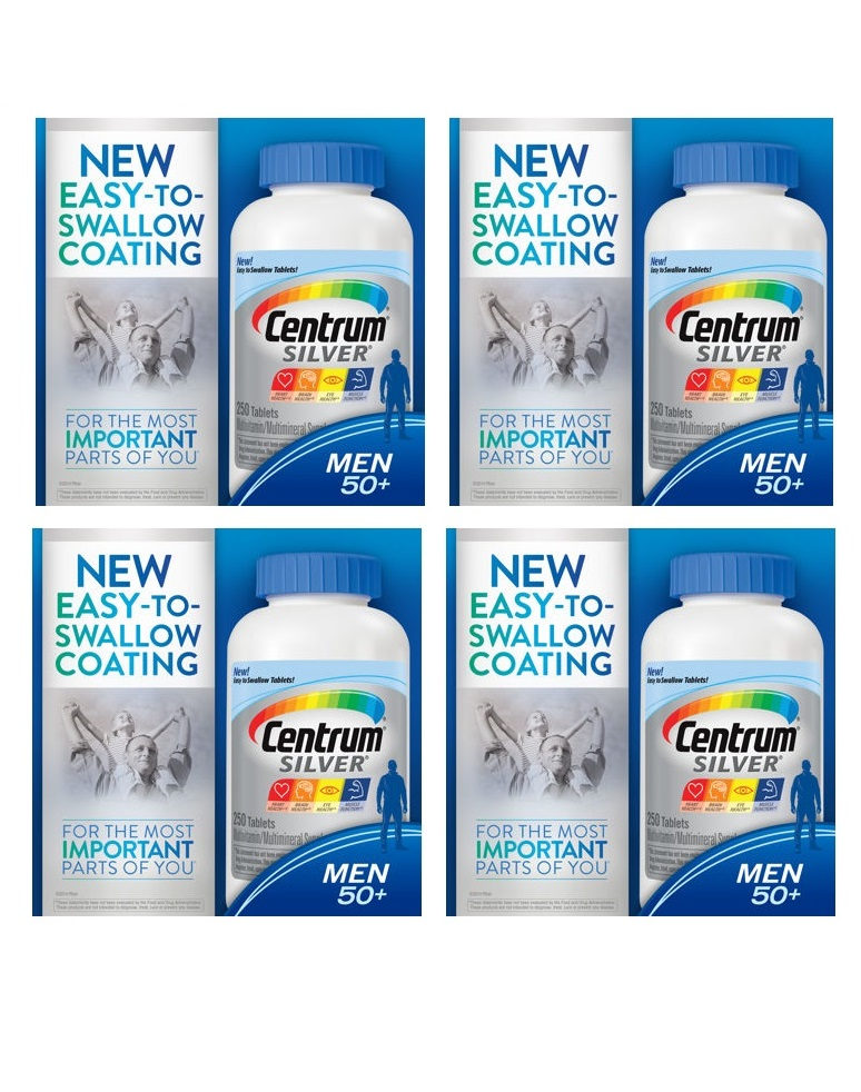 Centrum Silver Ultra Men's 250ea X 4